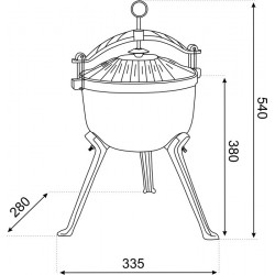 Comfort bęben naścienny 25 roll-up automatic (8023-20)