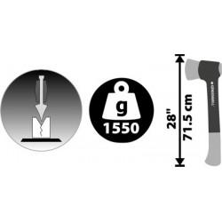 MasterGrillParty Grill ruchomy prostokątny boczna półka 58x38cm MG905