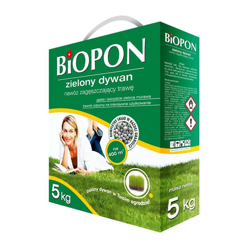Biopon Biopon do trawnik zielony dywan zagęszczający trawę 5kg PB2015