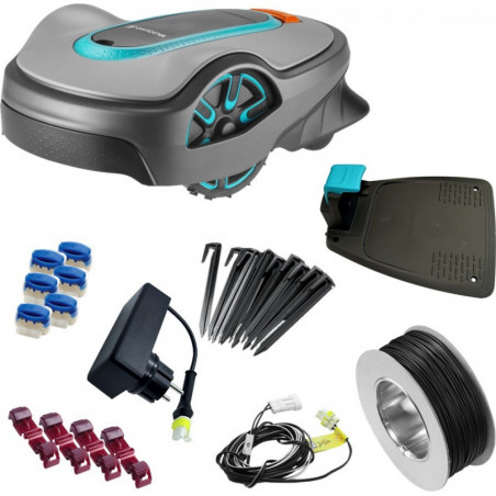 Gardena Smart robot koszący Sileno life 1000 Smart zestaw robot koszącyi router 1911432 GA19114