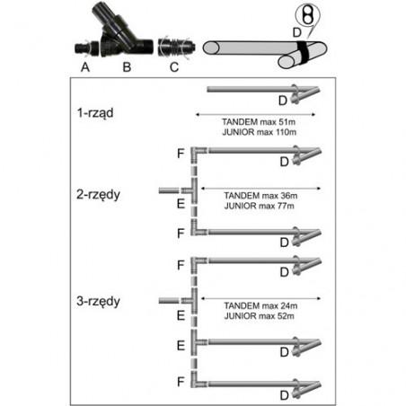 Greenmill Aquasystem Linia kroplująca P1 16mm 30cm. 2.2lh grubość 15mil GB7060
