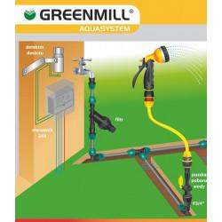 Greenmill Aquasystem Szybkozłączka mosiężna 34cal STOP GB1030C
